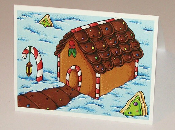 Cozy Candy Gingerbread House Gift Card