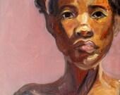 Portrait in Pink- Original Painting