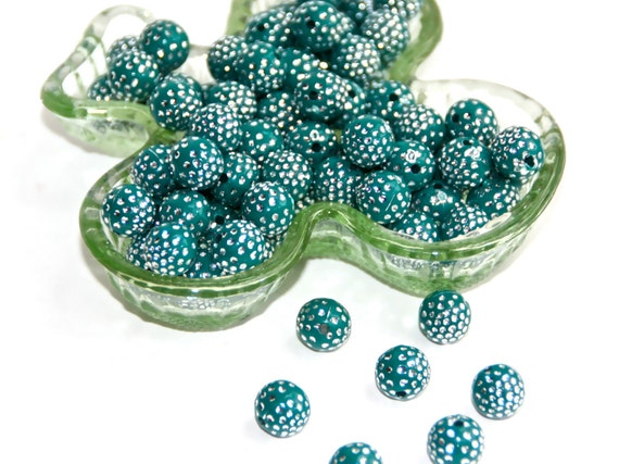 Bead 85 to 95, acrylic, dark GREEN,10mm round, jewelry beads, craft parts, art supplies, S23