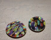 Colorful Artistic Glass Bubble Magnets, Set of 2, Upcycled