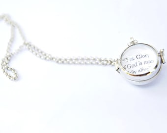 Round Bubble Locket with Quotes