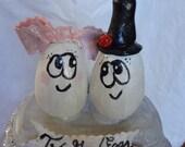 Two Good Eggs Wedding Cake Topper