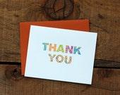 Leaf Mosaic Thank You Cards (set of 8)