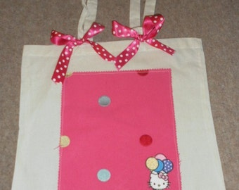 Cute spotted Hello Kitty tote bag