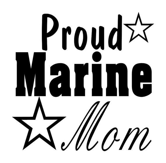 Usmc Marines Proud Mom Dad Vinyl Decal Wall Sticker Auto