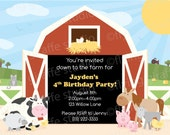 Customized Farm Party Birthday Invitation - Print Your Own