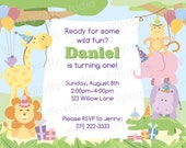 Customized Safari Party Birthday Invitation - Print Your Own