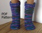 026 Knit knee-high socks from the toe up pattern for American Girl doll