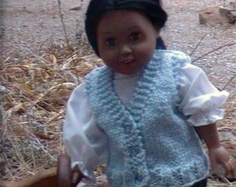 004 Knit vest pattern for American Girl doll