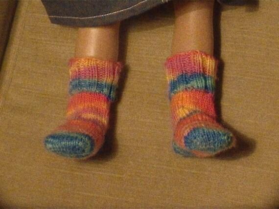 Knitting Pattern Doll Socks : 003 Knit socks pattern for American Girl doll from ...
