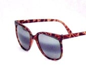 Tortoise Shell Reflective Preppy Sunglasses - Unisex Brown Reflective Vintage 80's