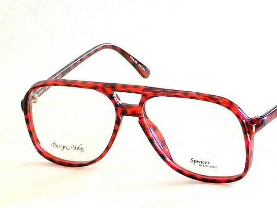 Big Red Frame Glasses : Mens Eyeglasses Big Geeky Tortoise Shell Aviator Glasses
