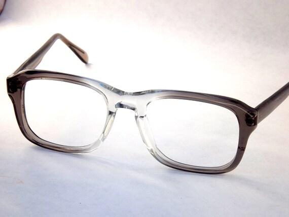 Clark Kent Mens Macho Square Designer 1980s Eyeglasses / Flex