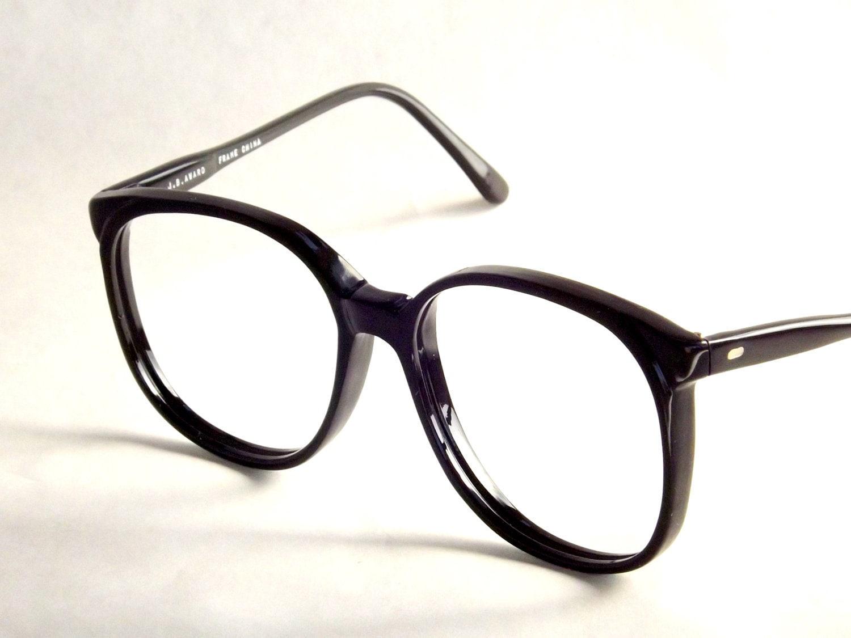 preppy eyewear vintage black eyeglasses 80s vintage