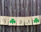Lucky In Love Wedding Burlap Banner Decoration - hanging burlap sign, Rustic wedding hanging burlap sign, wedding Lucky in Love rustic sign