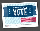Cast Your Vote Gender Reveal Party Printable Digital Invitation