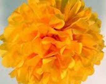 Goldenrod Tissue Paper Pom Pom - 1 Large Pom - 1 Piece - Ships within ONE Business Day
