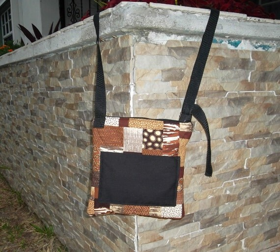 Cross Body Tote Bag Brown and Black