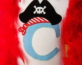 Pirate Applique shirt/ Pirate themed birthday shirt