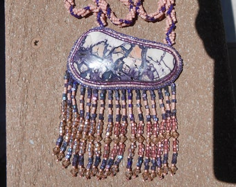 Beaded Tiffany Stone Necklace