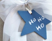 CHALKBOARD TAG STARS set of 5 with chalk free shipping