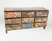 Solid Reclaimed Teak 9 Drawer Dresser