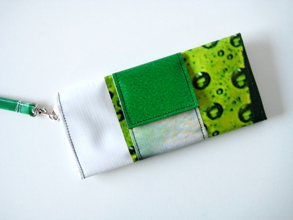 Upcycled Vinyl Clutch Wallet