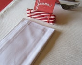RESERVED, JENNA Complete table setting for SEVEN- Candy Cane themed table
