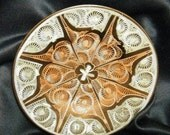 Tiny Brilliant Cut Copper Plated Wall Plate Vintage 1970s Exotic Eclectica - Free shipping to US