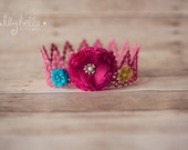 RTS Gorgeous Pink Summer Lace Crown