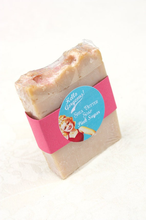 Pink Sugar Shea Butter Cold Process Soap