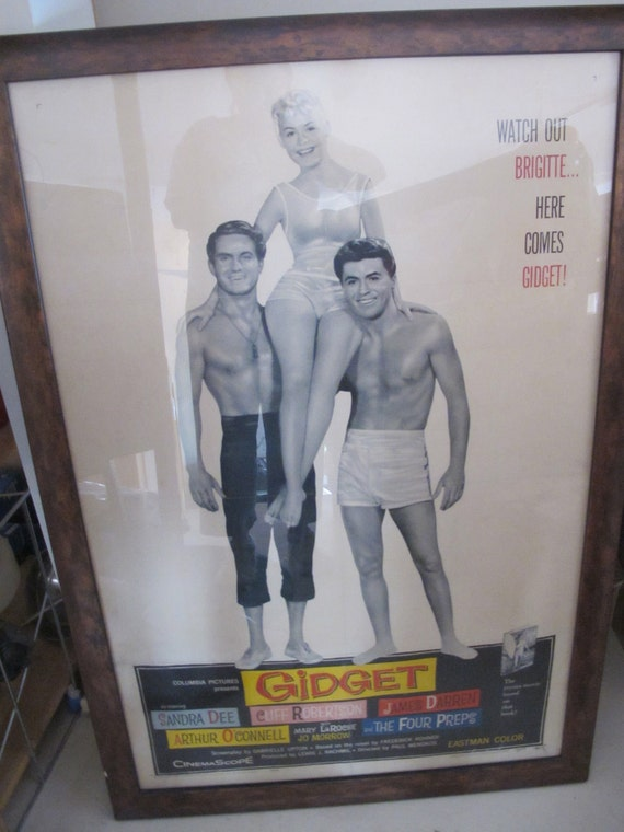 Original 1959 GIDGET movie poster Sandra Dee by AntoinetteAnne