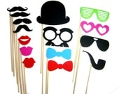 Photo Booth Props - 15 Piece Set