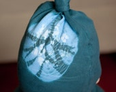 Infant Tie Dyed Hat - Teal with Baby Blue Accents - Hand Dyed  - One Size