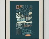 Dr. Seuss Quote 11x14 Typography Art Print