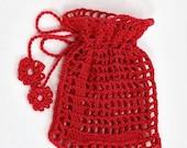 Gift bag, Crochet bag, Handmade bag, Valentine Day