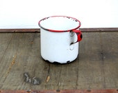 Vintage Enamel Wear Cup / Vintage Pen Holder