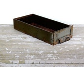 vintage industrial tray - vintage metal drawer