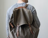 vintage swedish military backpack // vintage backpack