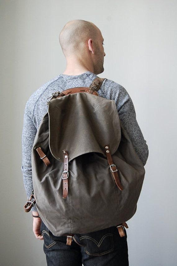 vintage swedish military backpack // vintage backpack