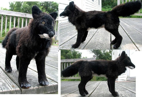 Charity Save Wolves Melanistic Black Wolf Plush Toy