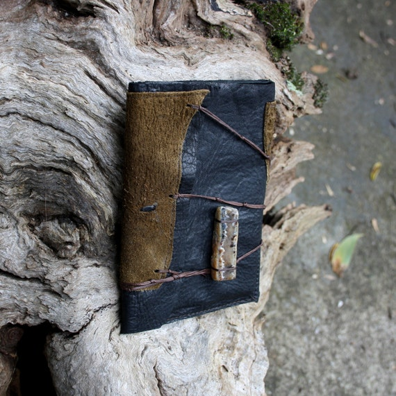 RESERVED for Miss Marnie - Agate Leather Passport cover earthy and handmade by AriomDesigns