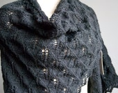 Black Lace Knit Shawl