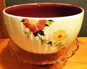 "Hall China 1930s ""Floral Radiance"" No. 488 Mixing Bowl"