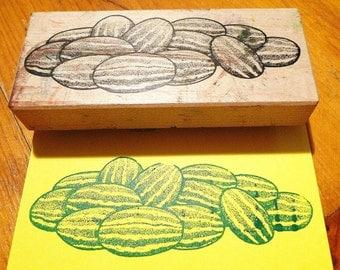 Watermelon Rubber Stamp