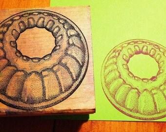 Bundt Cake Pan Rubber Stamp
