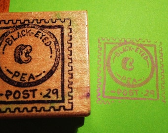 Black Eyed Pea Rubber Stamp
