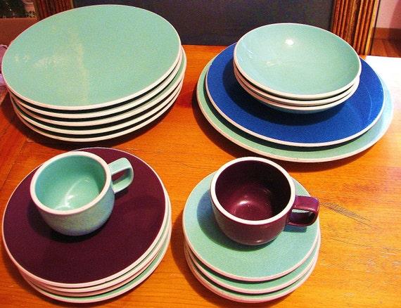 25 - Piece Sasaki Stoneware 'Colorstone' Mixed Up Set