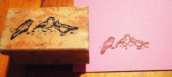 Three Little Birds Rubber Stamp