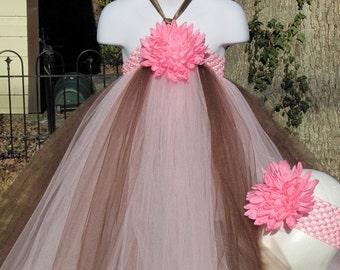 Chocolate Truffle Tutu Dress 12- 18m, 18-24m, 2t, 3t,  4t, 5t